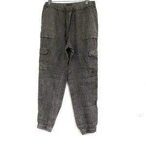 Artisan NY  Size Medium 100% Linen Gray Joggers